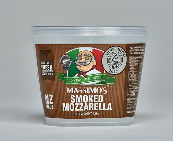 Smoked Mozzarella - Massimo's Italian cheeses made in NZ